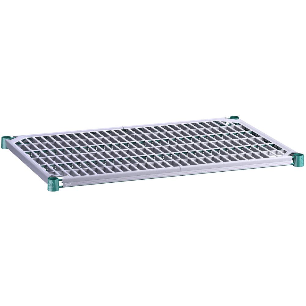 Regency 24 inch x 36 inch Green Epoxy Shelf with Polymer Drop Mat