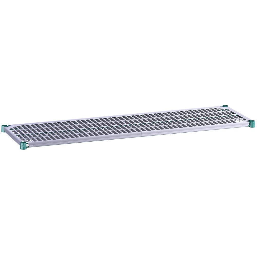 Regency 18 inch x 60 inch Green Epoxy Shelf with Polymer Drop Mat
