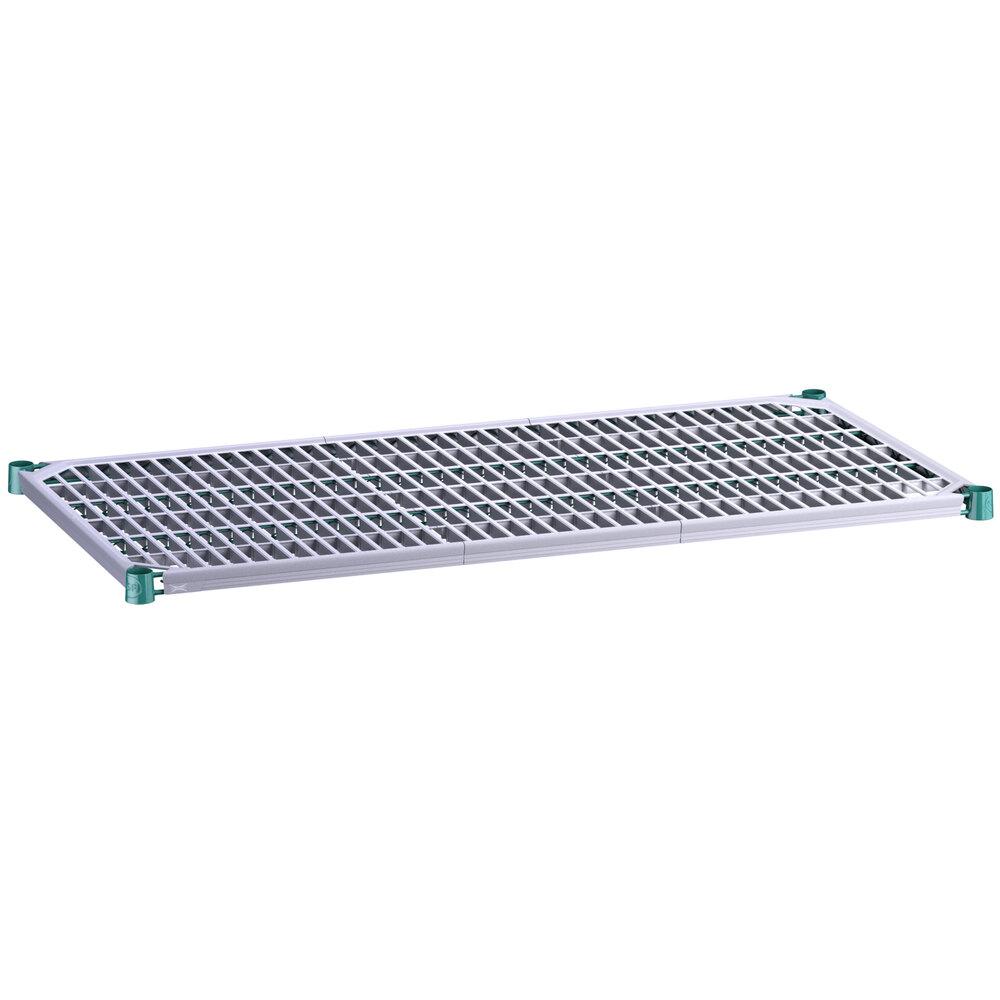 Regency 24 inch x 48 inch Green Epoxy Shelf with Polymer Drop Mat