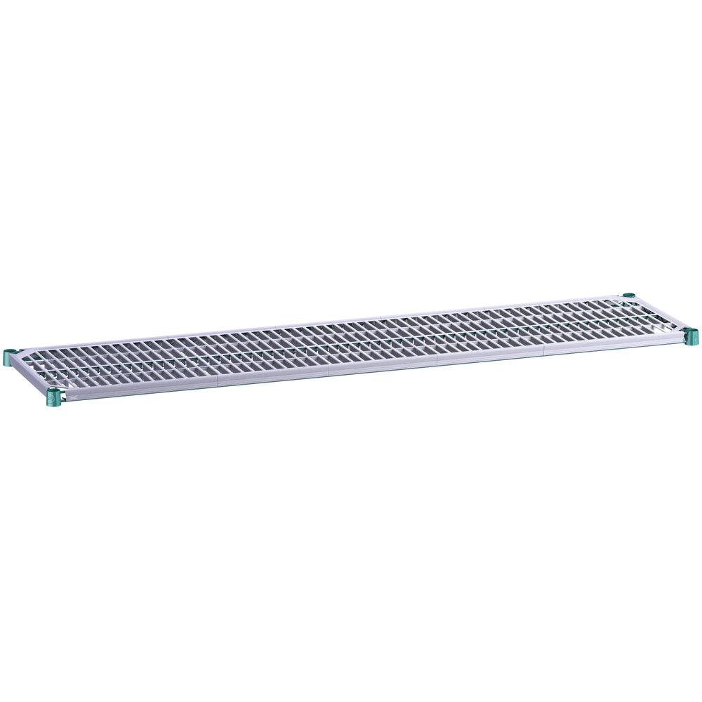 Regency 18 inch x 72 inch Green Epoxy Shelf with Polymer Drop Mat