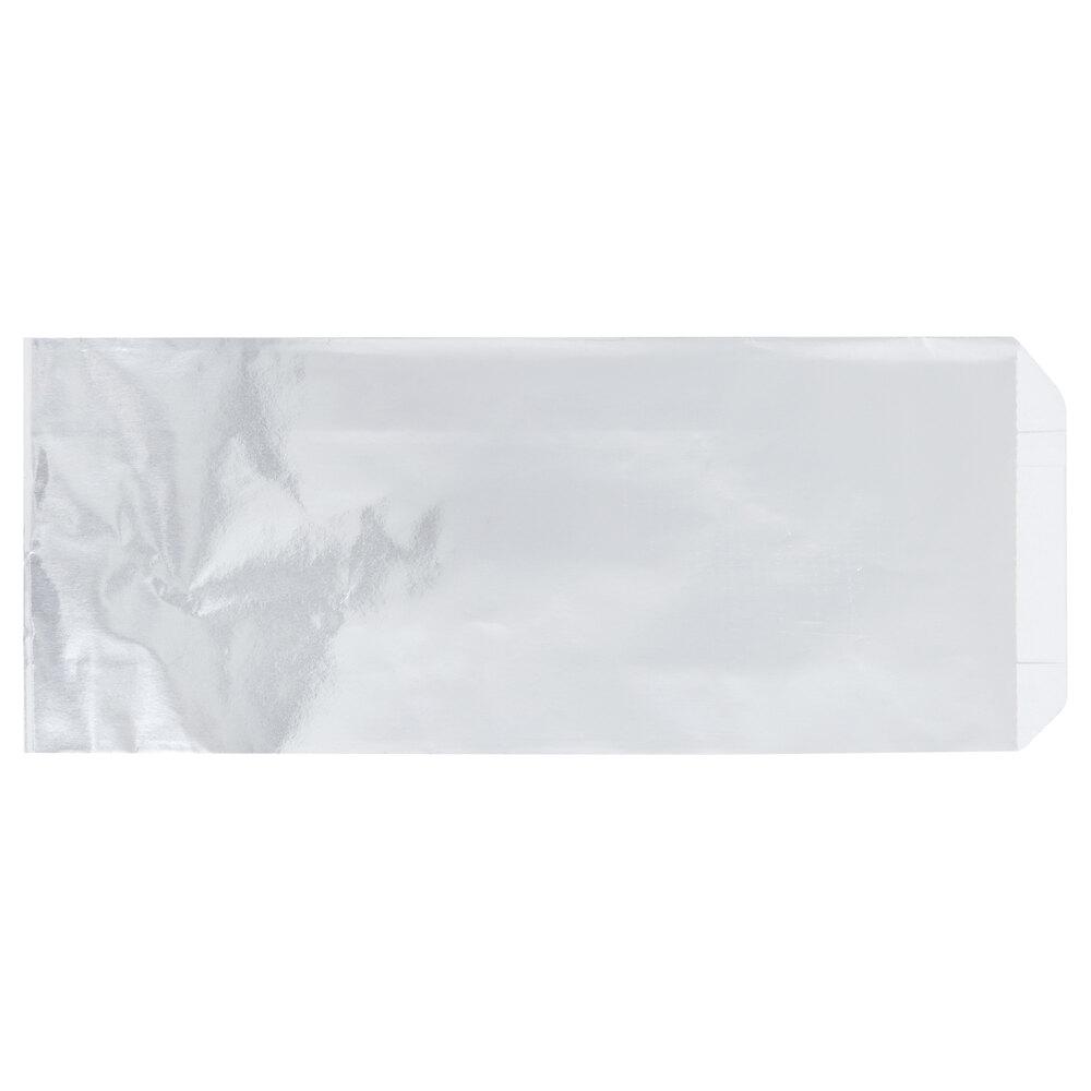 Carnival King 3 1/2 inch x 1 1/2 inch x 9 inch Unprinted Foil Hot Dog Bag - 250/Case