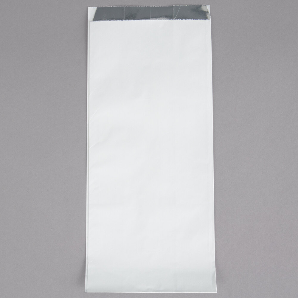 Carnival King 5 1/2 inch x 3 1/4 inch x 12 inch Qt. Size Unprinted Foil Bag - 250/Pack