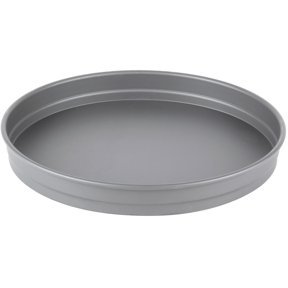 "American Metalcraft HC5113 13"" x 1 1/2"" Straight-Sided Hard Coat Anodized Aluminum Pizza Pan"