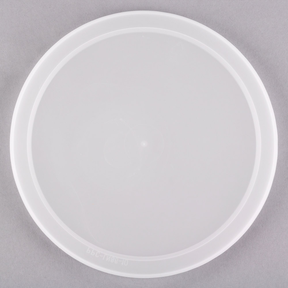 "7 1/2"" Microwavable Translucent Round Deli Container Lid - 200/Case"
