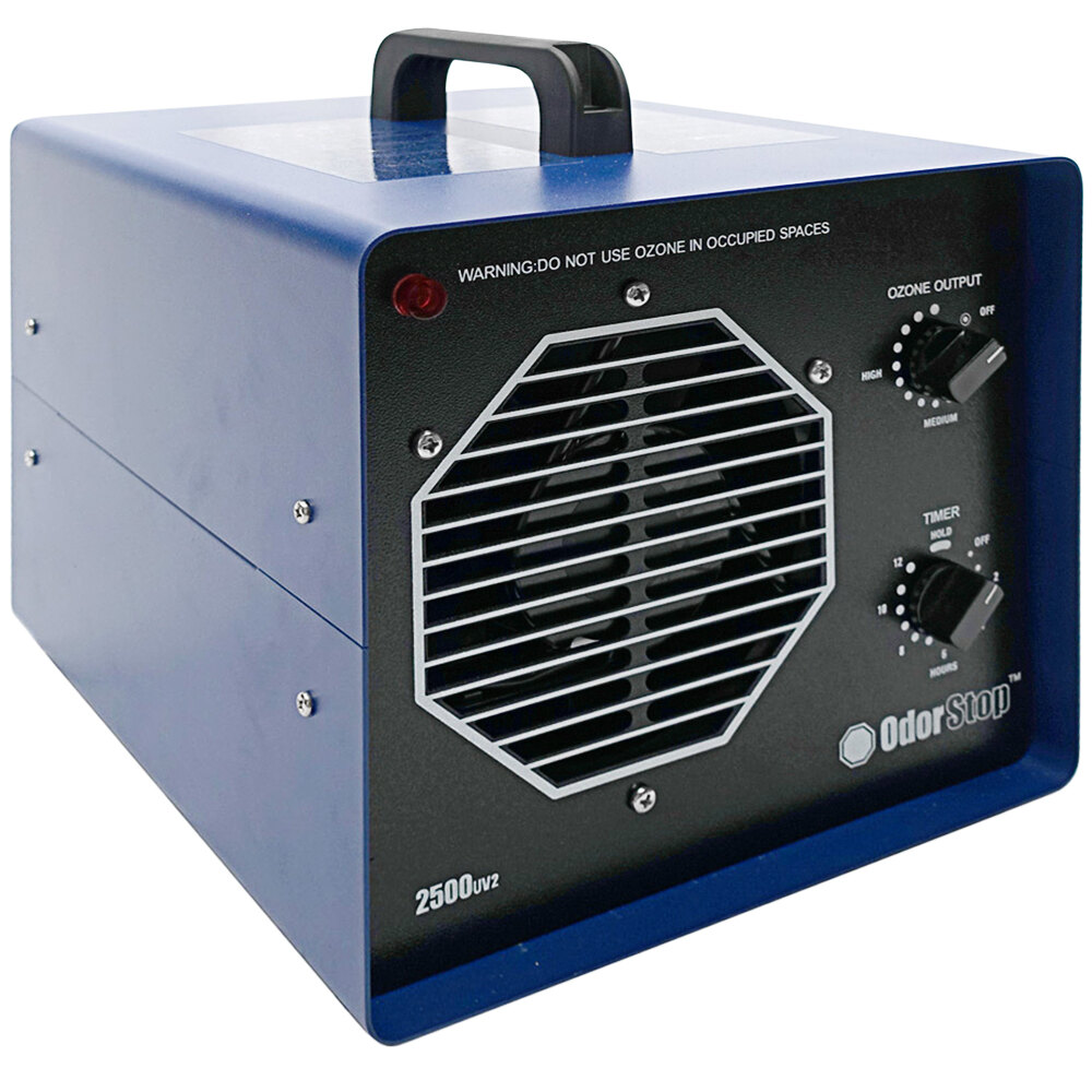 OdorStop OS2500UV2 Ozone Generator / UV Air Purifier with 2 Ozone Plates, UV Bulb, and Charcoal Filter