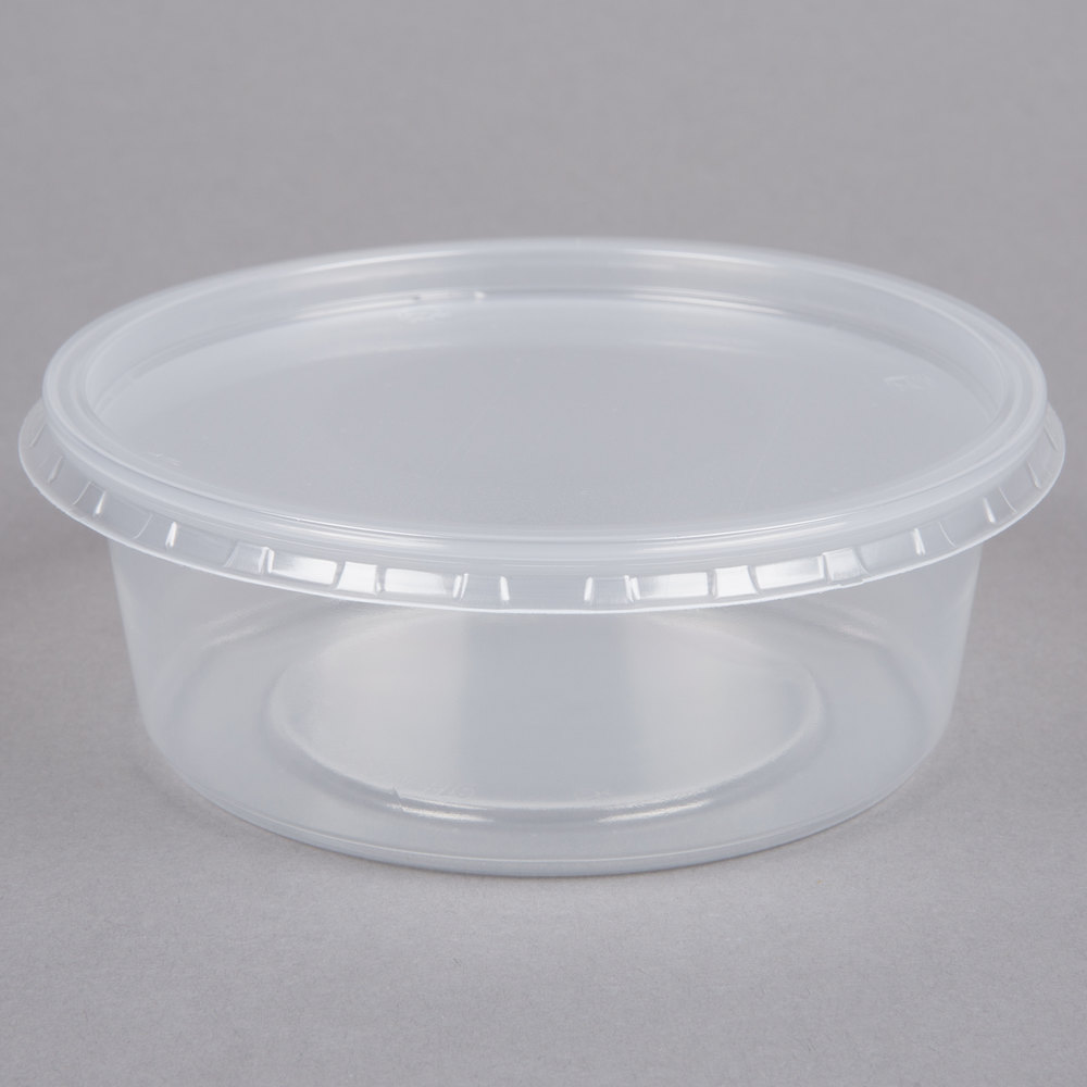 Choice 8 Oz Microwavable Translucent Round Deli Container
