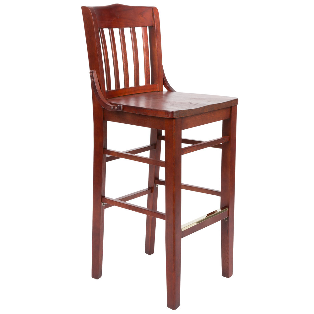 Lancaster Table Seating Mahogany School House Bar Height Chair