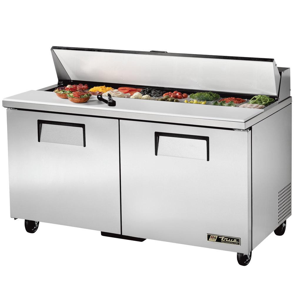 True Tssu 60 16 60 Quot 2 Door Refrigerated Sandwich Prep Table