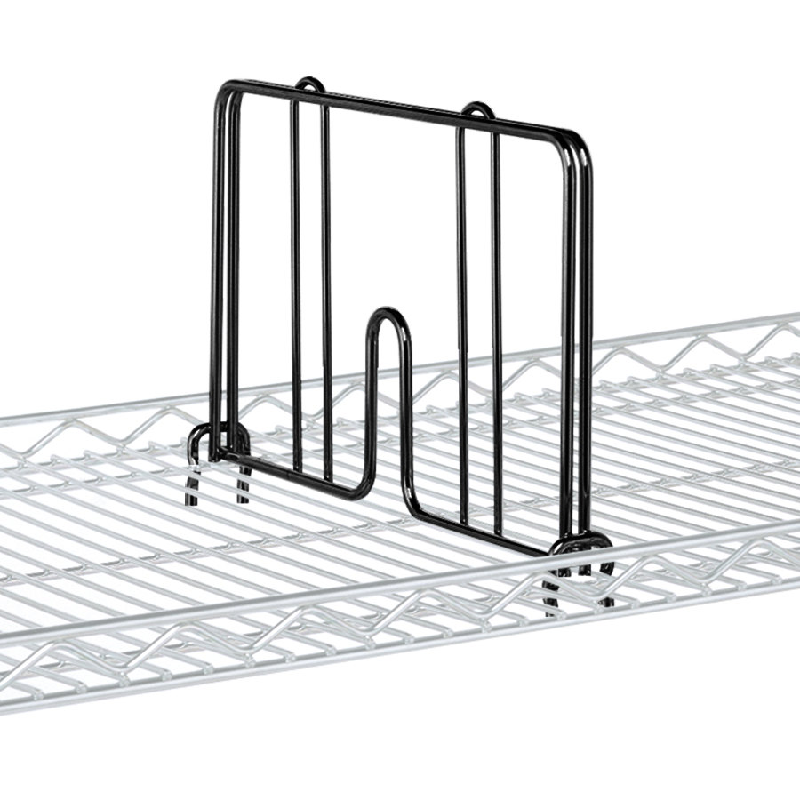 "Metro HD24B Black Drop Mat Snap-On Divider - 24"" Wide"