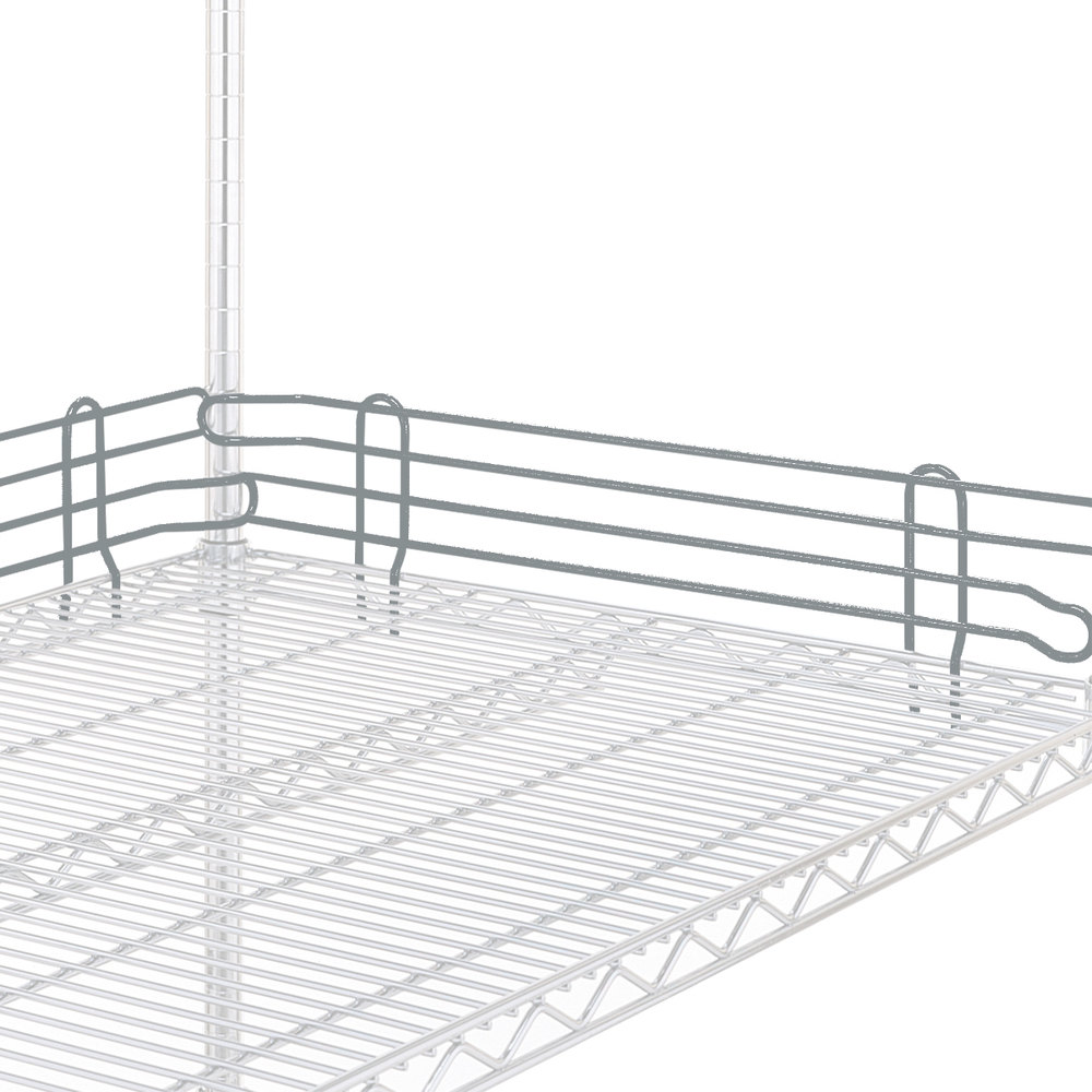 "Metro L42N-4-DSH Super Erecta Silver Hammertone Stackable Ledge 42"" x 4"""