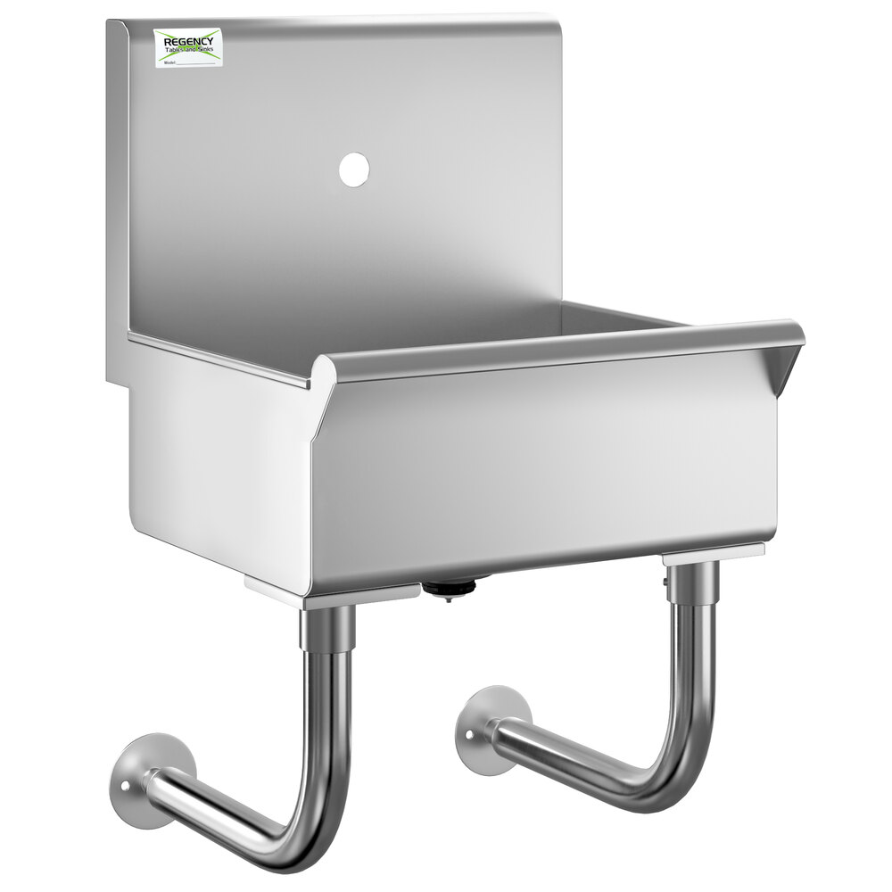 Regency 18 inch x 17 1/2 inch Single-Hole Hand Sink for 1 Wall Mounted Faucet