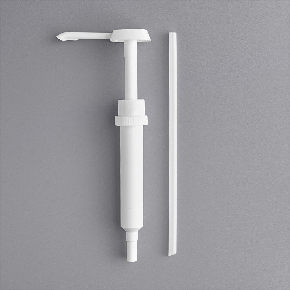 Carnival King 1 oz. Plastic Condiment Pump with 11 inch Dip Tube