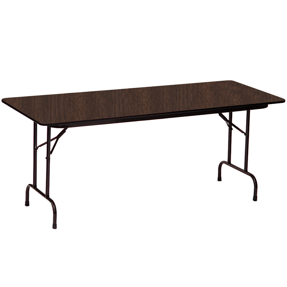 correll cf3072m01 30 x 72 walnut melamine top folding table. Black Bedroom Furniture Sets. Home Design Ideas