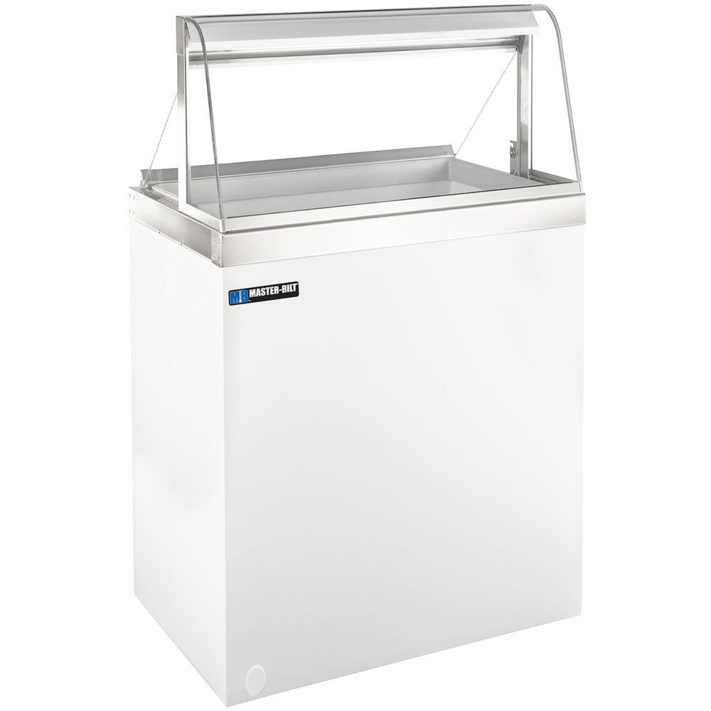 MasterBilt DDCG Curved Glass Ice Cream Dipping Cabinet - Dipping cabinet