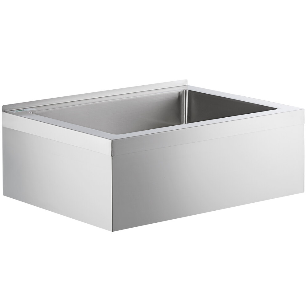 Regency 33 inch 16-Gauge Stainless Steel One Compartment Floor Mop Sink - 28 inch x 20 inch x 6 inch Bowl
