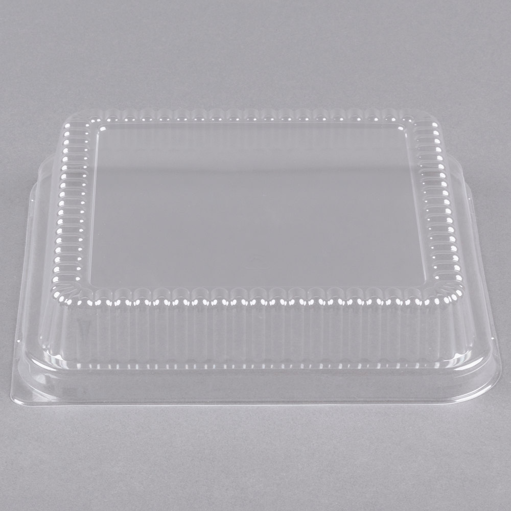 "Durable Packaging P1155-500 Clear Lid for 8"" Square Foil Cake Pan - 500/Case"