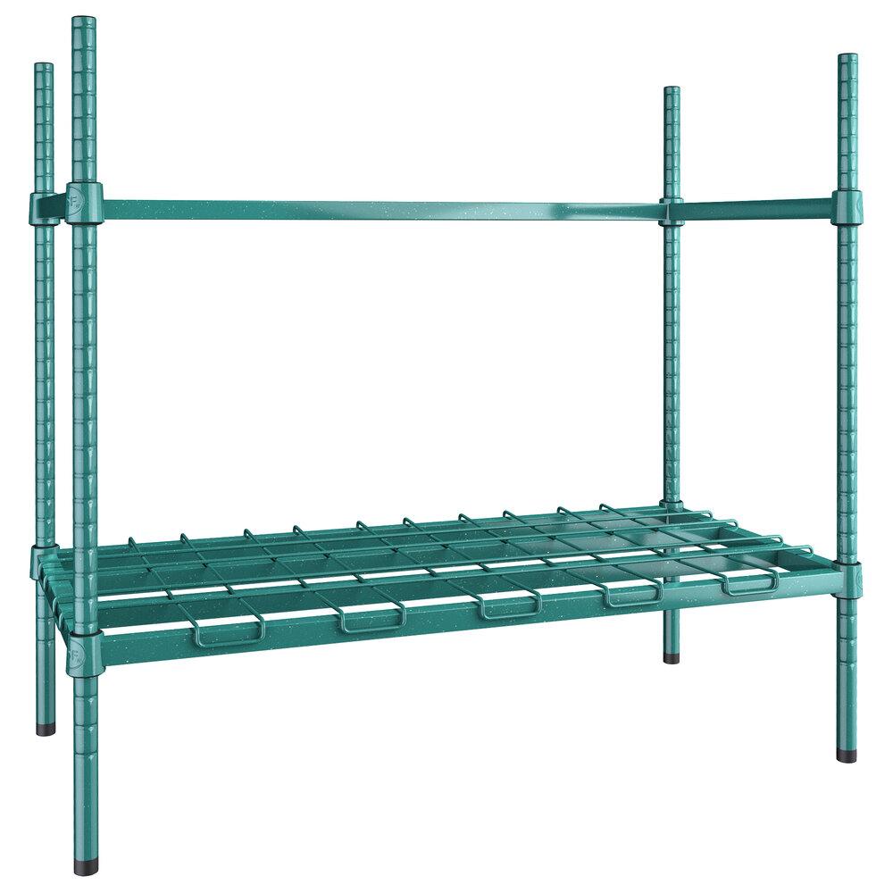 Regency 2 Keg Green Epoxy Keg Rack - 18 inch x 36 inch x 34 inch