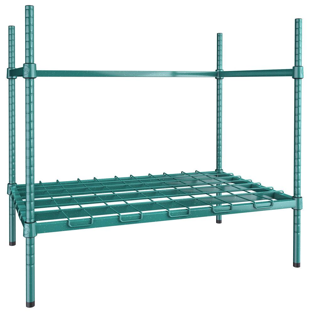 Regency 2 Keg Green Epoxy Keg Rack - 24 inch x 36 inch x 34 inch
