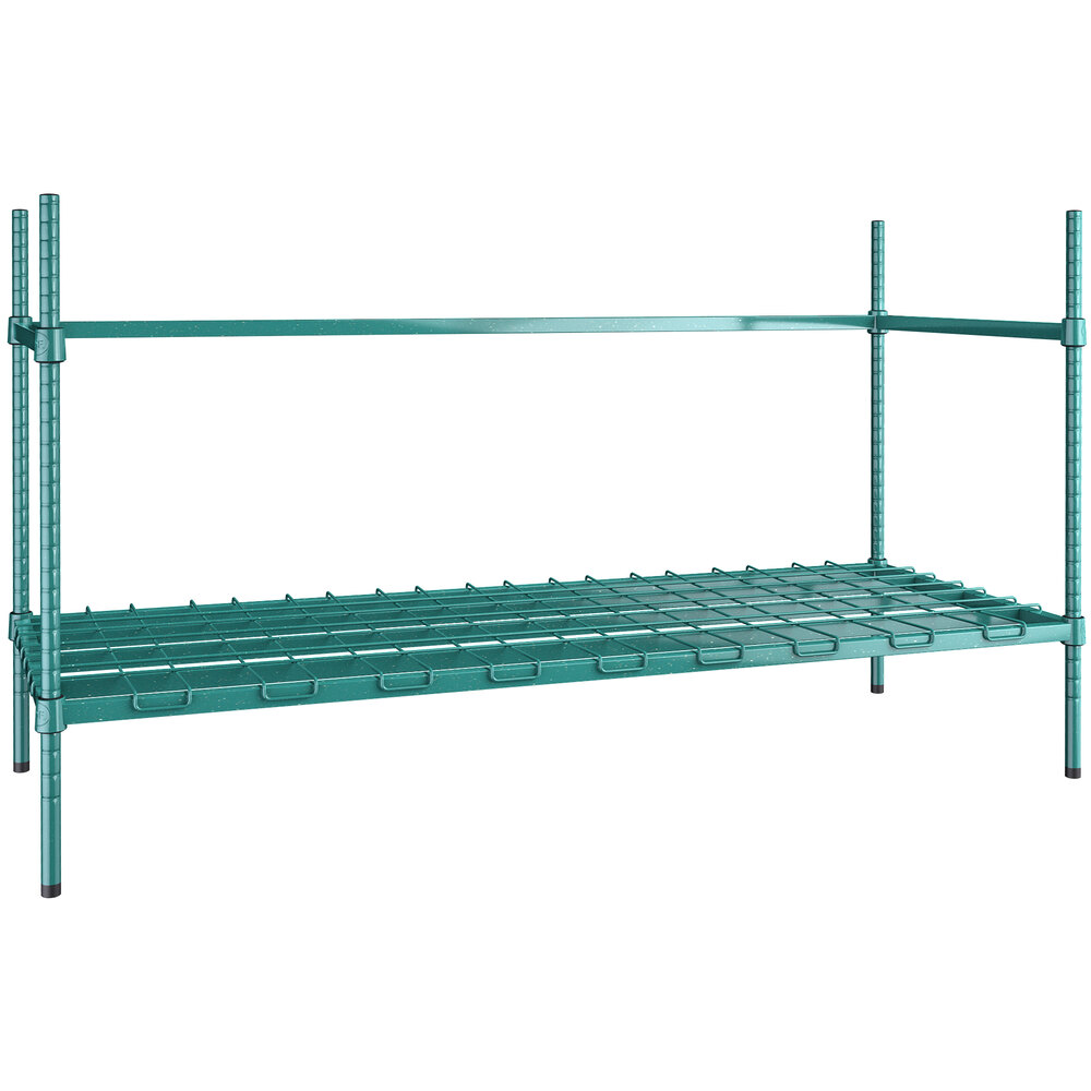 Regency 4 Keg Green Epoxy Keg Rack - 24 inch x 60 inch x 34 inch