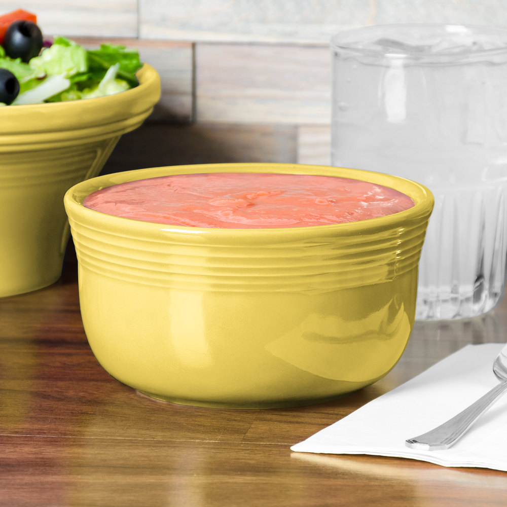 Homer Laughlin 723320 Fiesta Sunflower 24 oz. Gusto Bowl - 6 / Case
