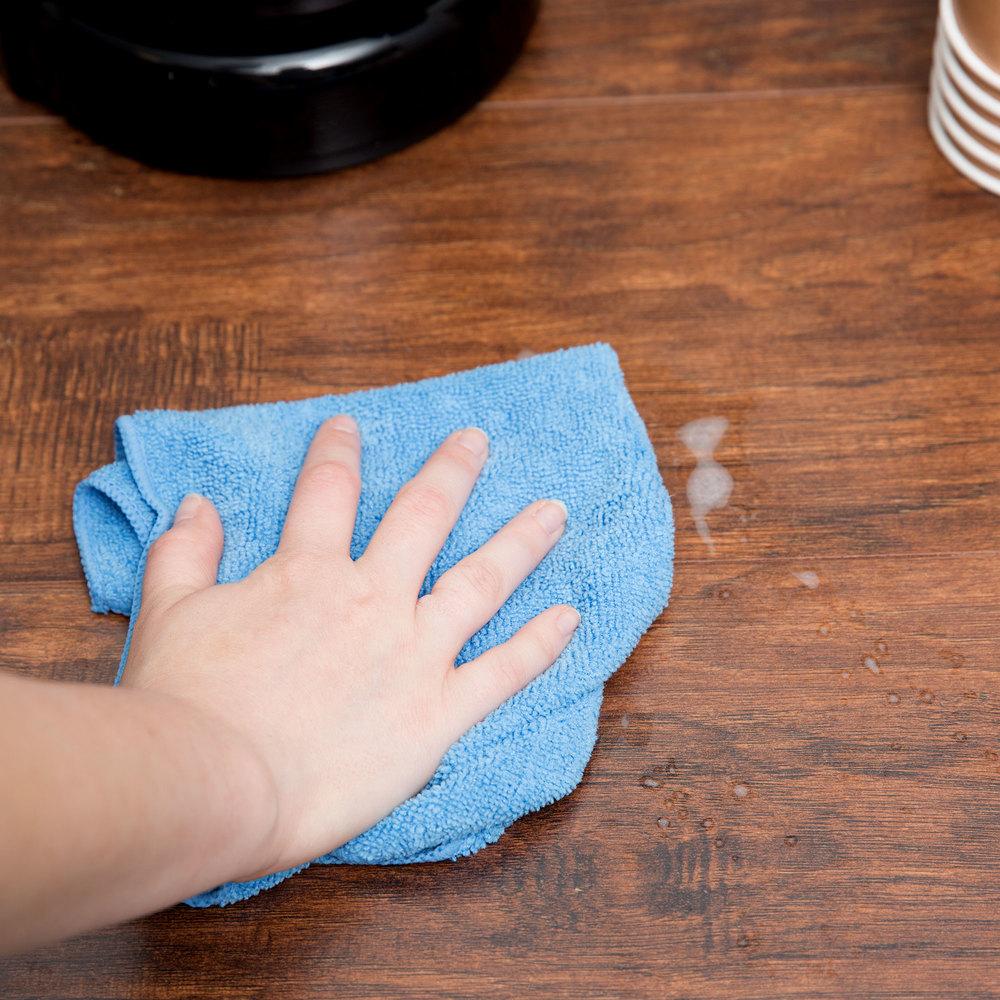 "Microfiber Cloth Guide: 12"" X 12"" Blue Microfiber Cleaning Cloth"