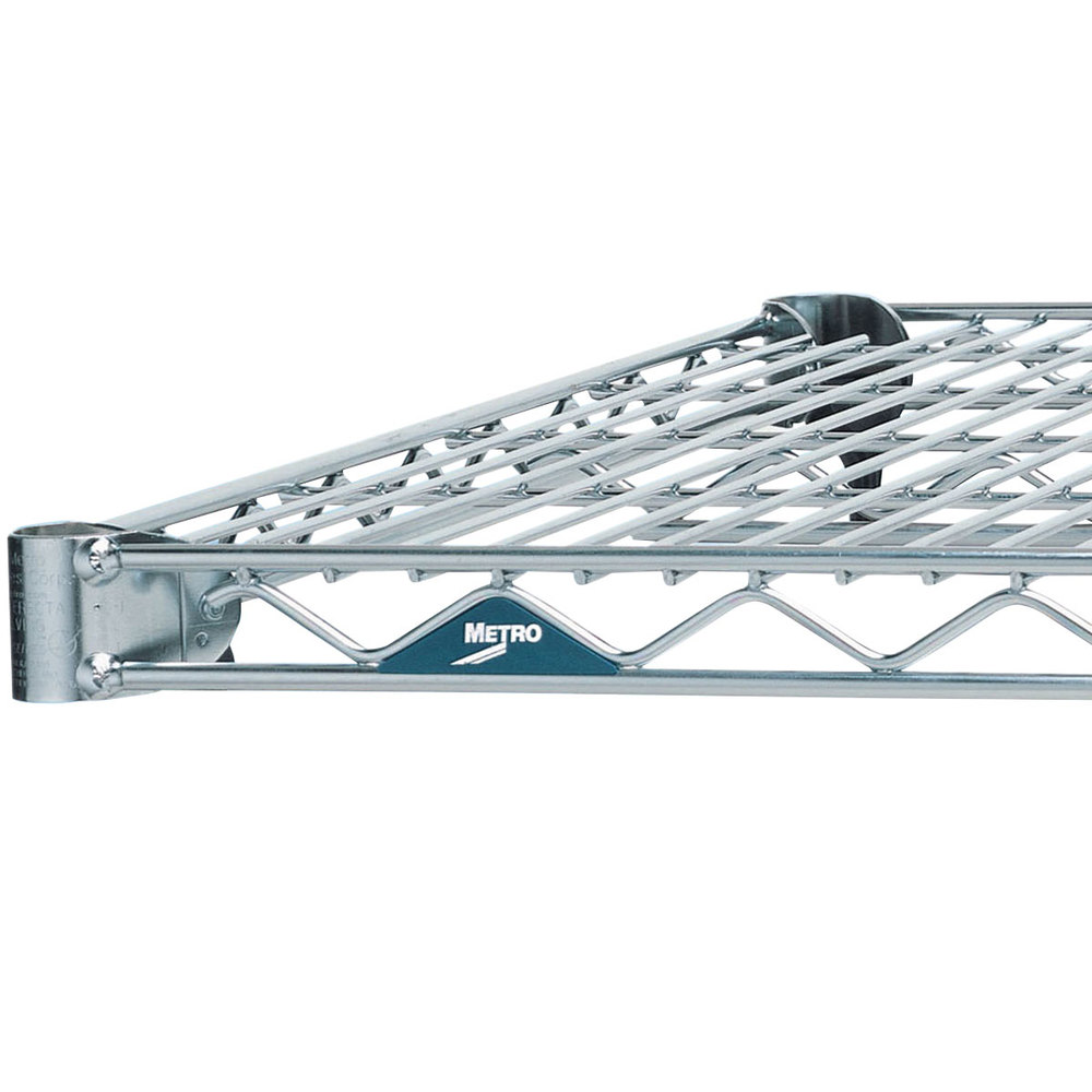 "Metro 1442NS Super Erecta Stainless Steel Wire Shelf - 14"" x 42"""