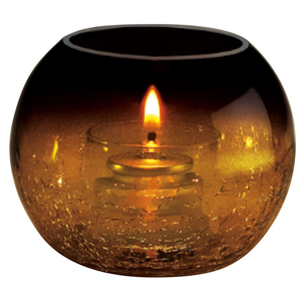 Sterno Products 80288 Amber Glass Sphere Liquid Candle