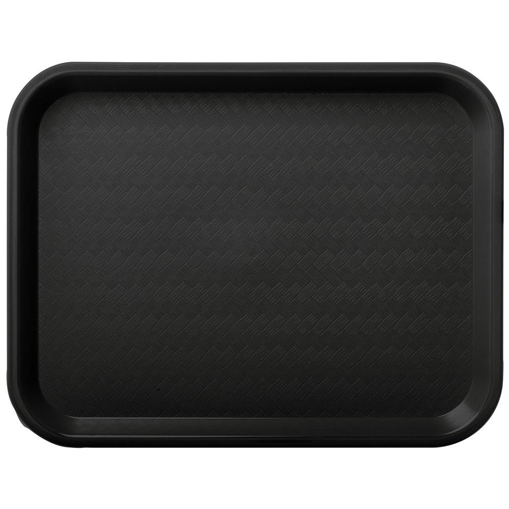 carlisle ct101403 cafe 10 x 14 black standard plastic fast food tray 24 case. Black Bedroom Furniture Sets. Home Design Ideas