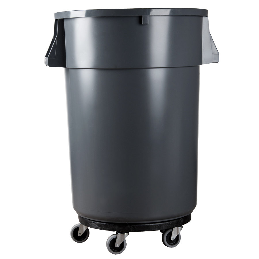Rubbermaid Brute 2640 Trash Can Dolly Fg264000bla