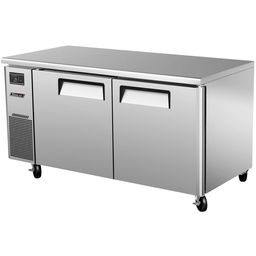 "Turbo Air JUF-60 J Series 60"" Undercounter Freezer with Side Mounted Compressor - 15 Cu. Ft."