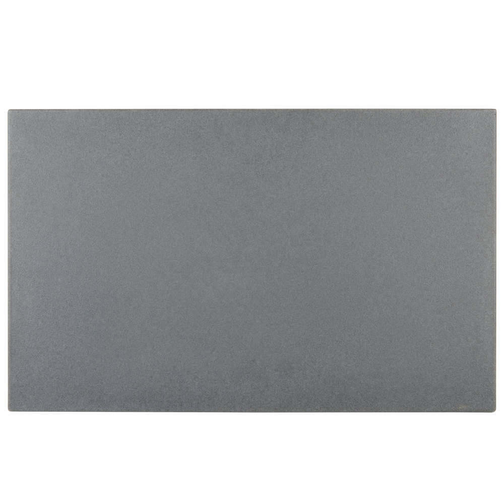 "Cambro WCR1220191 Granite Gray Full Size Well Cover For CamKiosk and Camcruiser Vending Carts 21""L x 13""W x 2""H"