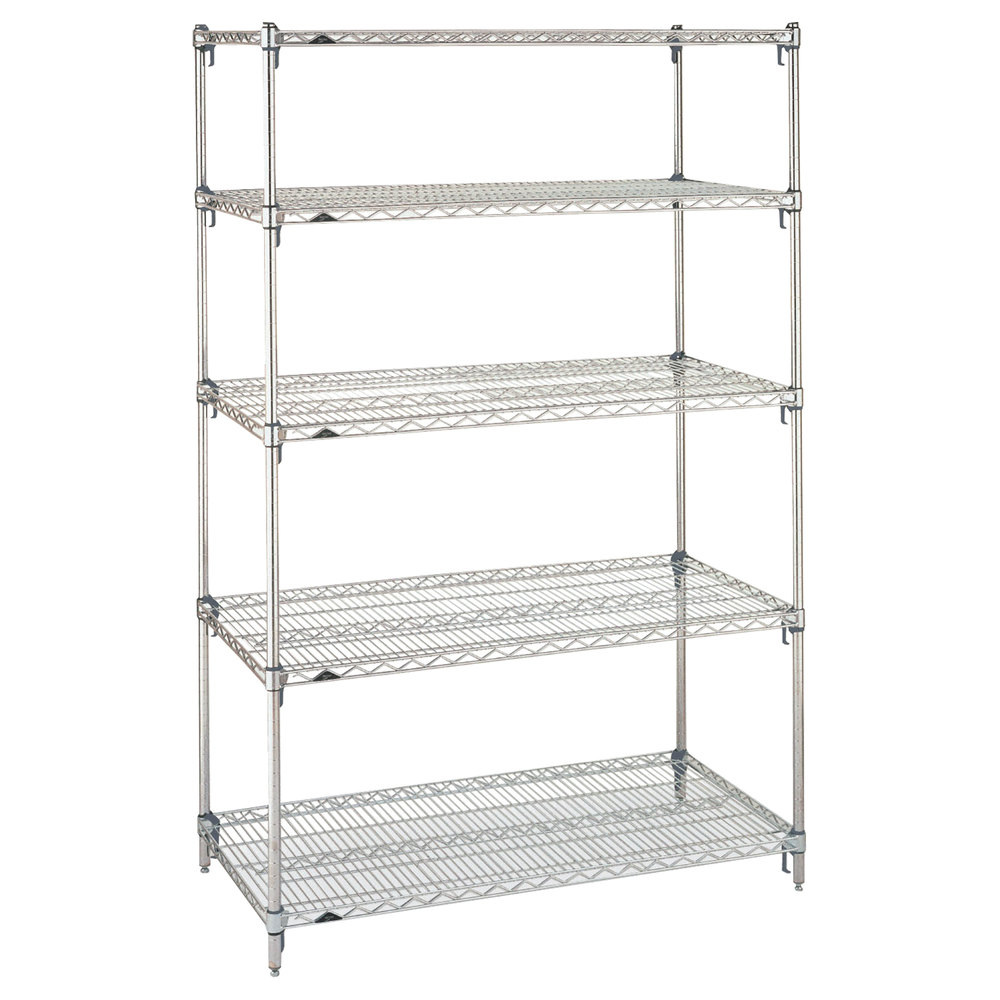 Metro 5A377C Stationary Super Erecta Adjustable 2 Series Chrome Wire ...
