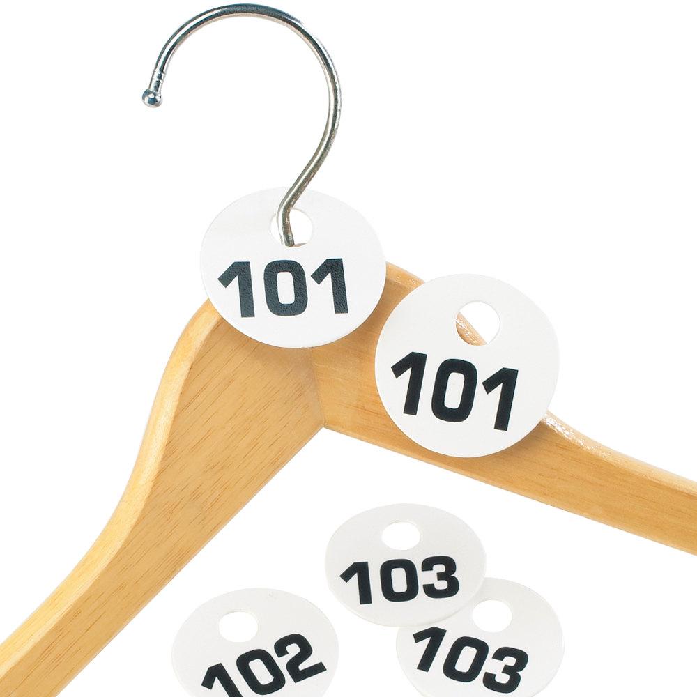 Cal-Mil 869 Round Plastic Coat Check Tag Set - 1-100