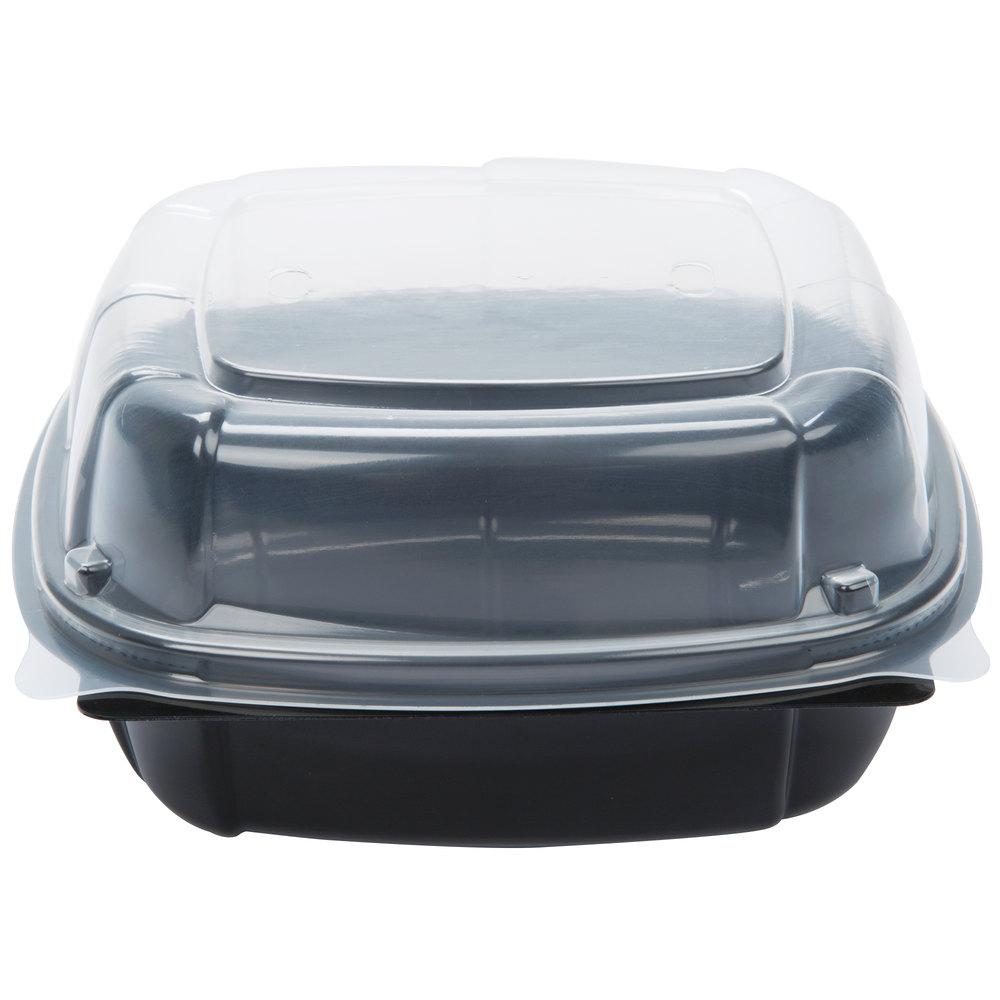 Plastic Food Service Hinged Box Extra Large