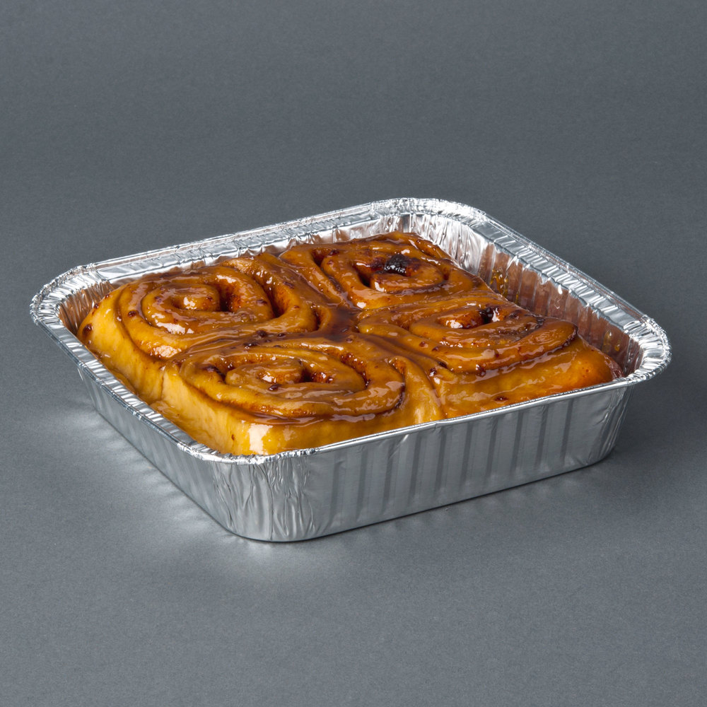 "Durable Packaging 1155-35 8"" Square Foil Cake Pan - 500/Case"