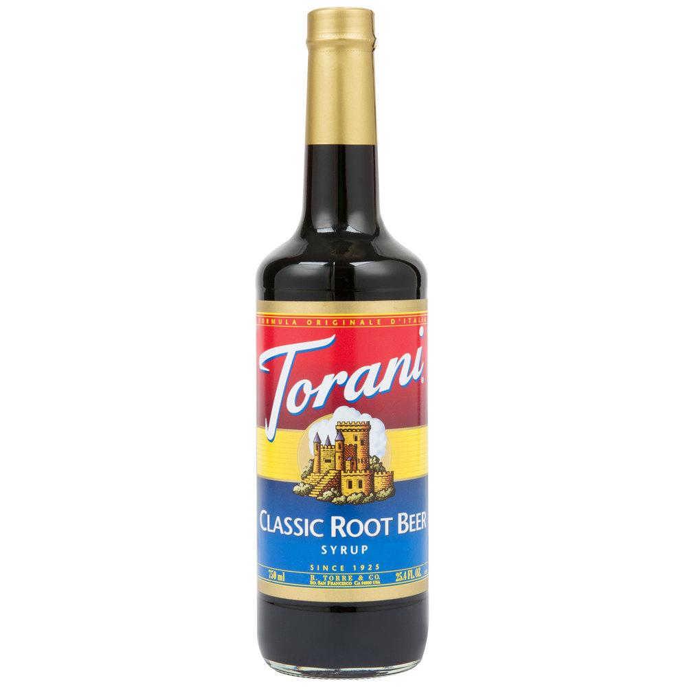 Torani 750 Ml Root Beer Flavoring Syrup