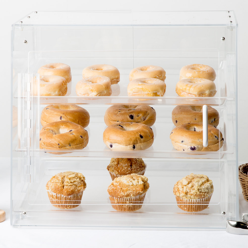 "Cal-Mil 1011-S Three Tier U-Build Classic Pastry Display Case - 19 1/2"" x 17"" x 16 1/2"""