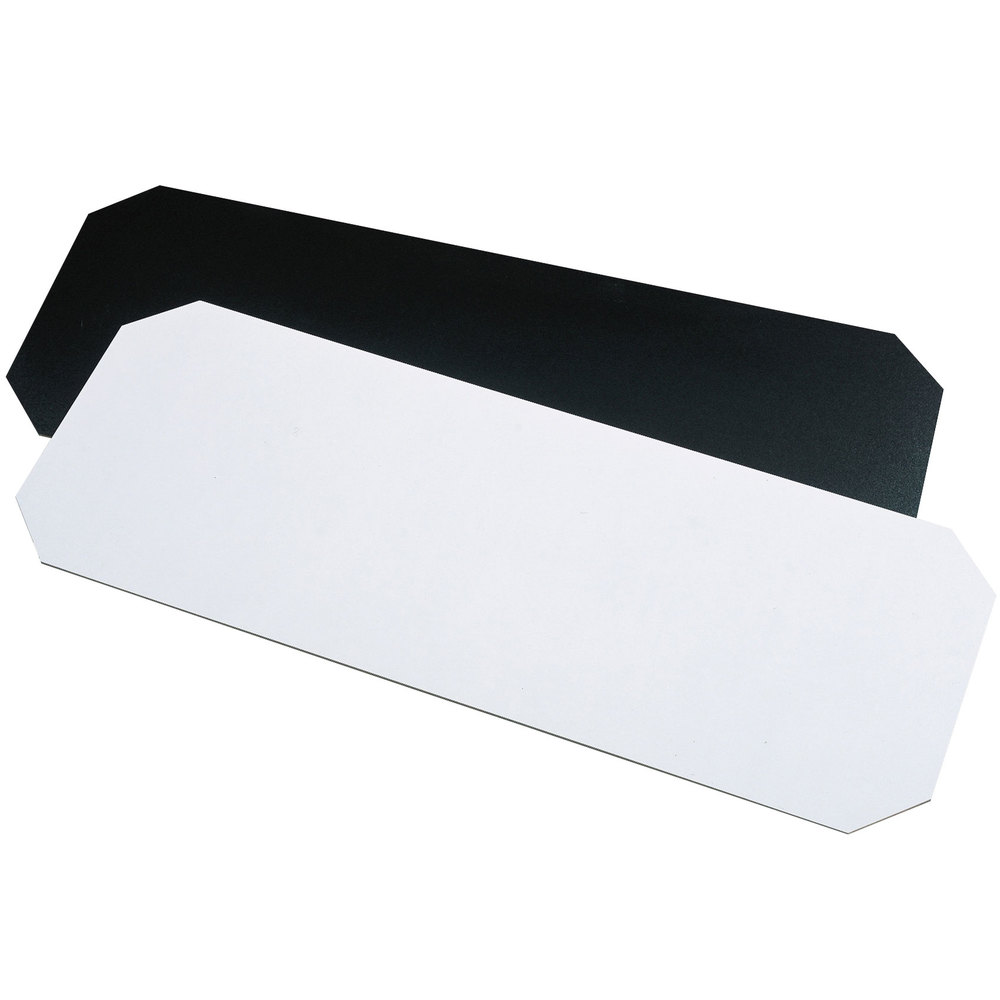 "Metro 1448BWI Black and White Reversible Decorator Shelf Inlay 14"" x 48"""