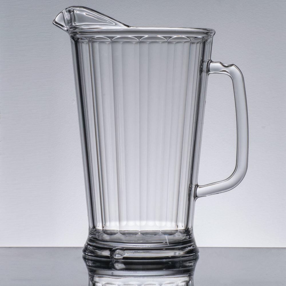 cambro camwear p64cw135 clear 64 oz plastic pitcher. Black Bedroom Furniture Sets. Home Design Ideas