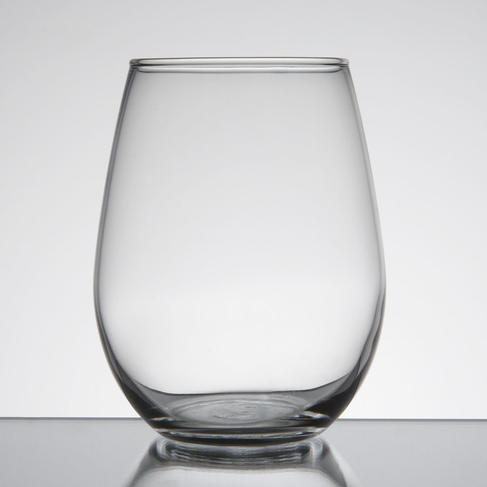 Libbey 217 12 oz customizable stemless white wine glass - Stemless wine goblets ...