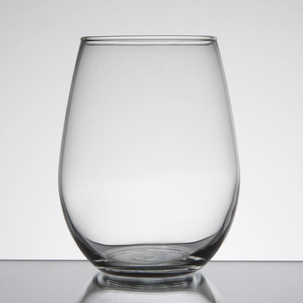 Libbey 217 12 oz customizable stemless white wine glass - Stemless wine goblets ...