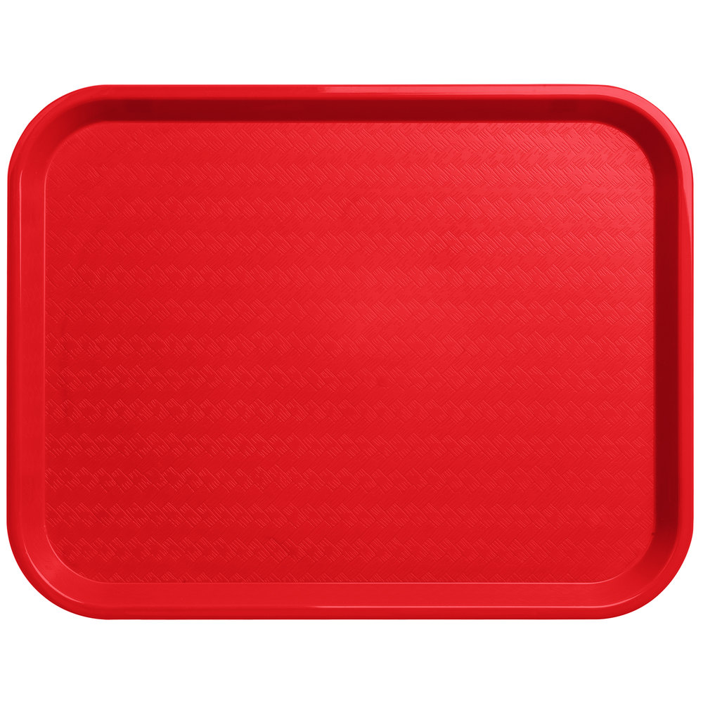 "Carlisle CT141805 Cafe 14"" X 18"" Red Standard Plastic Fast"