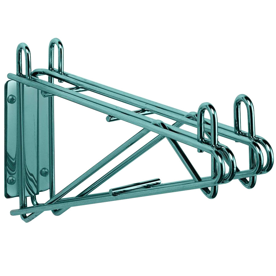 "Metro 2WD21K3 Super Erecta Metroseal 3 Double Direct Wall Mount Bracket for Adjoining 21"" Shelves"