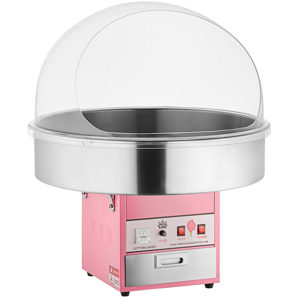 Carnival King CCM28 Cotton Candy Machine with 28 inch Stainless Steel Bowl and Floss Bubble