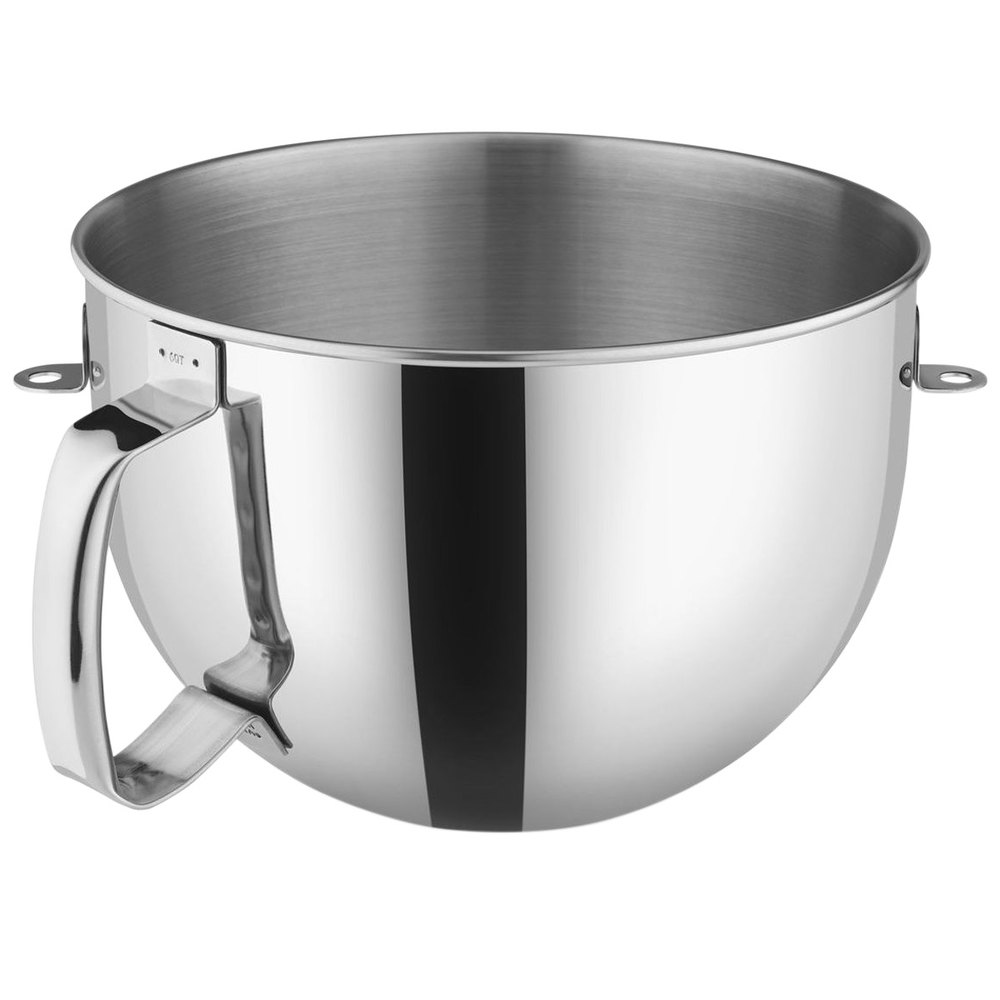 Kitchen aid 6 quart mixer - Kitchenaid Kn2b6peh Polished Stainless Steel 6 Qt Mixing Bowl With Handle For Stand Mixers