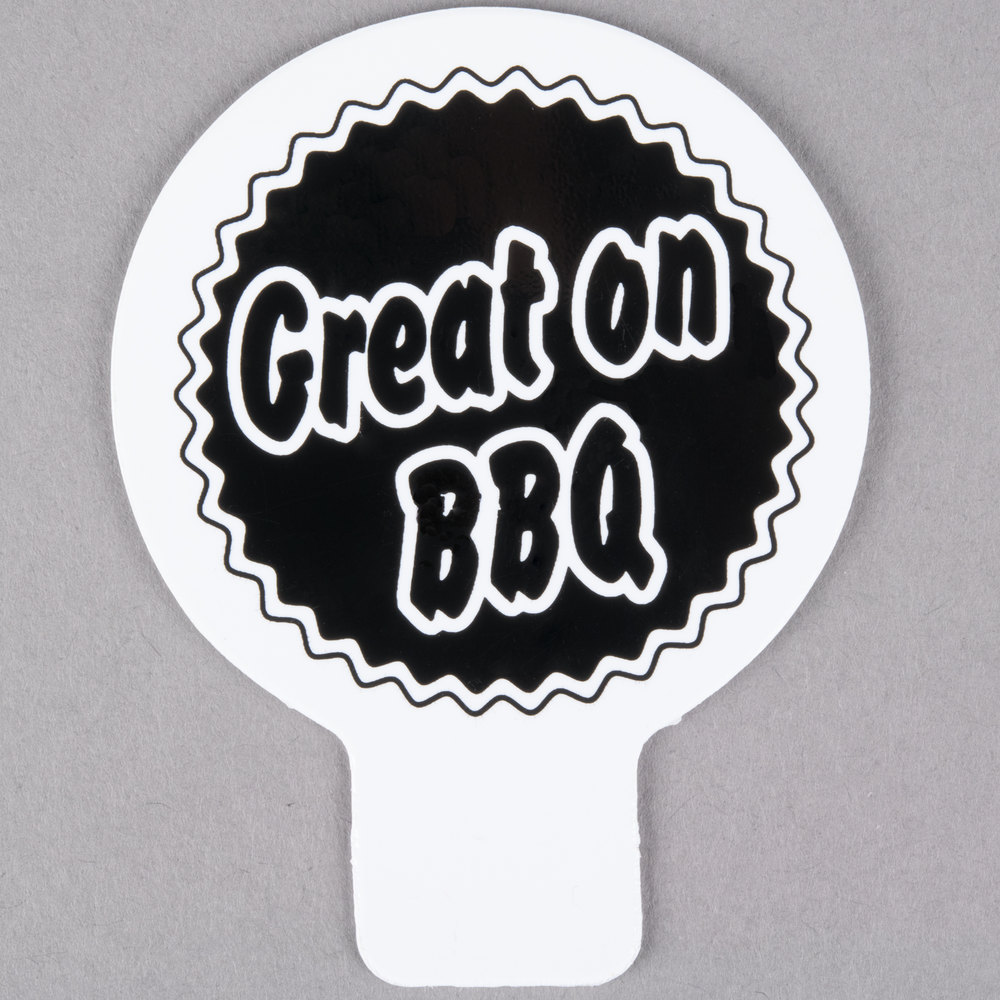 Deli Tag Topper - GREAT ON THE BBQ - Black