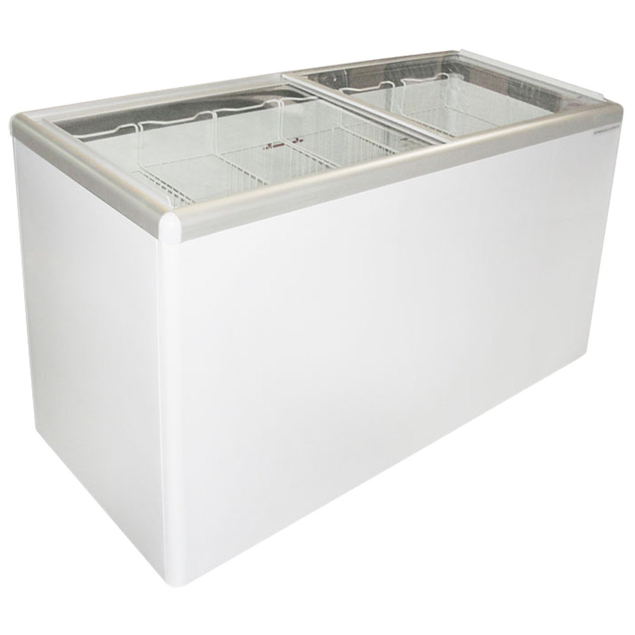 Excellence EURO-16 Ice Cream Flat Top Flat Lid Display Freezer - 15.5 cu. ft.