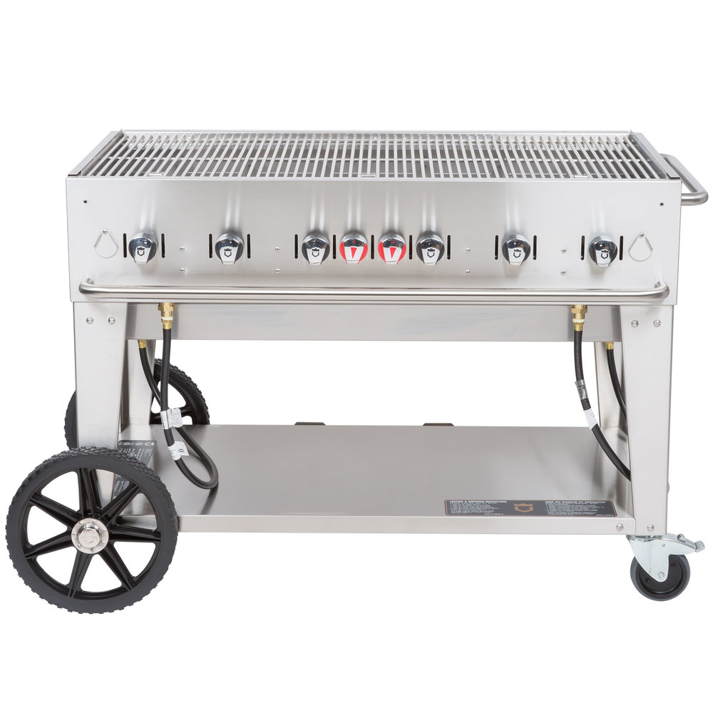 Natural Gas Crown Verity MCB-48 Portable Outdoor BBQ Grill / Charbroiler