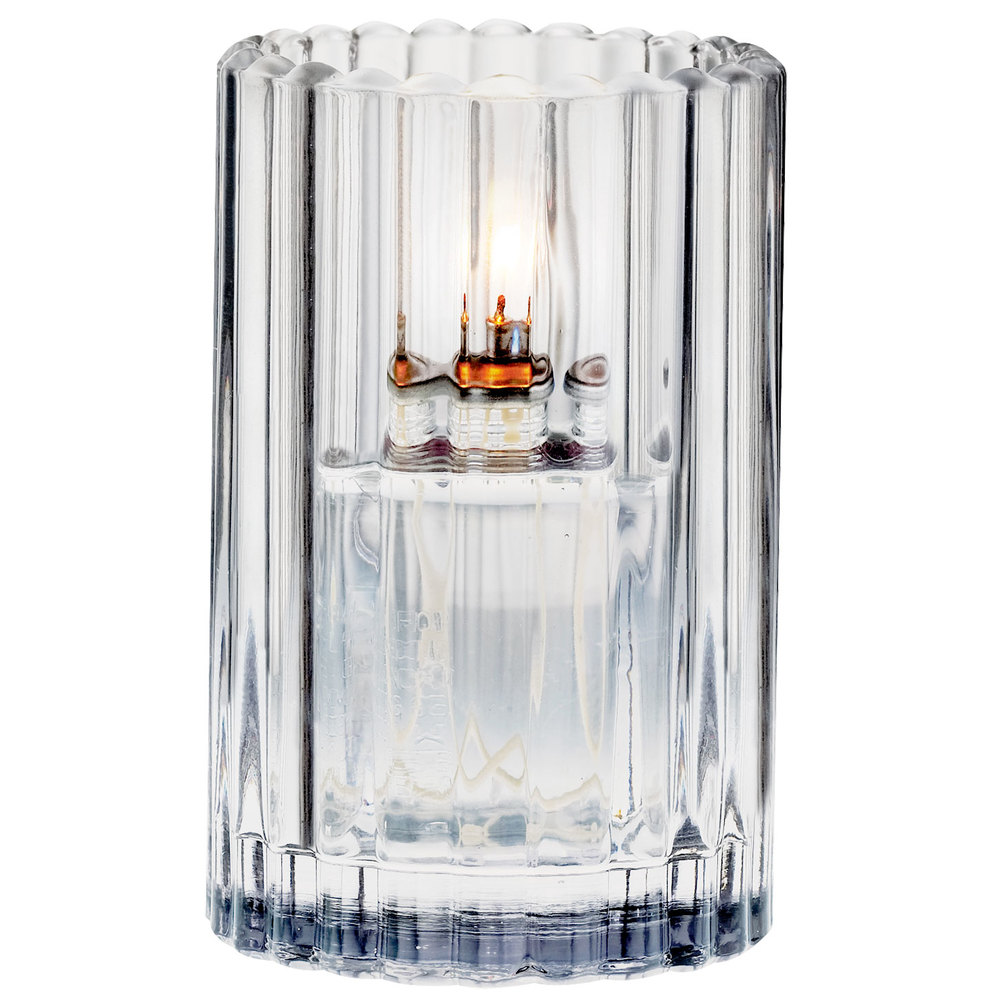 "Sterno Products 80214 3 1/8"" x 5"" Clear Paragon Candle Liquid Candle Holder"
