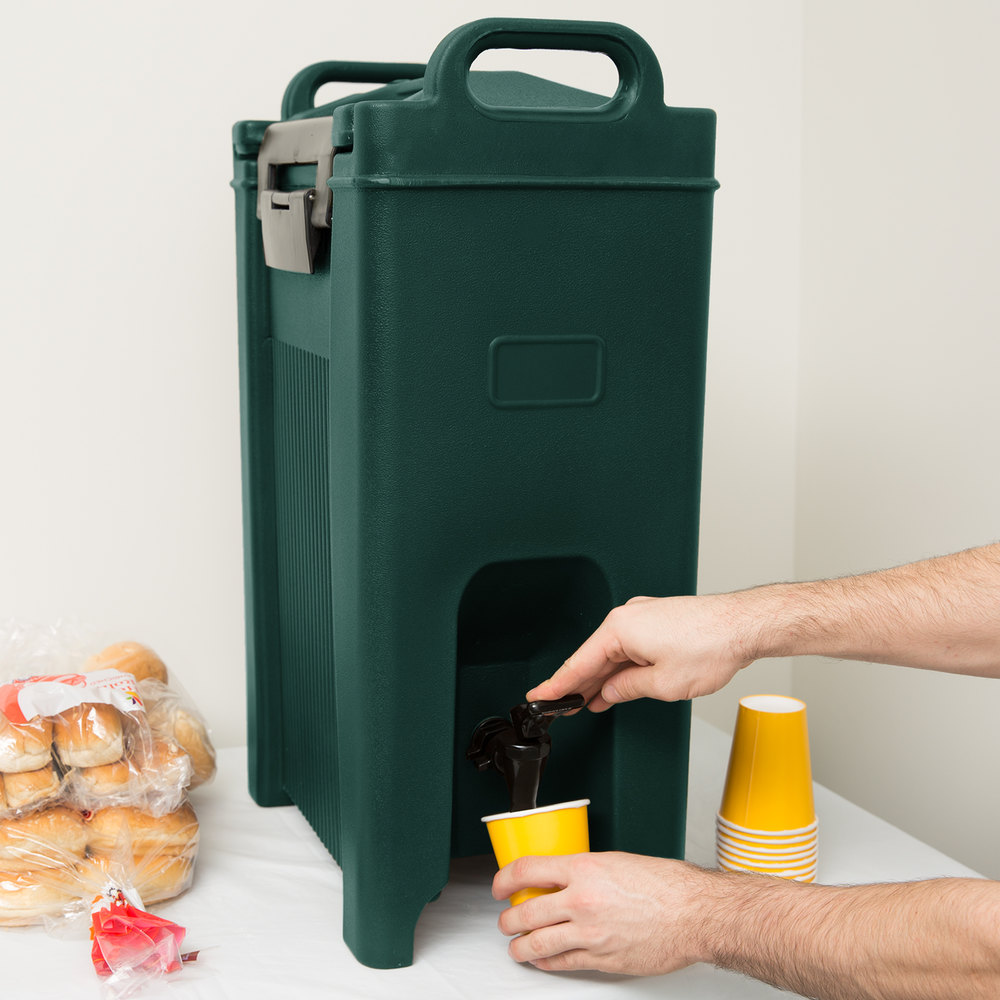 Carlisle XT500008 Cateraide 5 Gallon Forest Green Insulated Beverage Dispenser